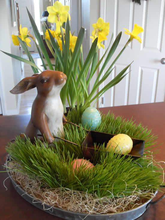 Decoração de Páscoa para mesa