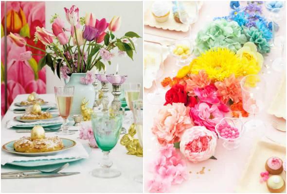 Centros de mesa para decoração de Páscoa