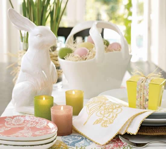 Linda decoração para mesa de Páscoa