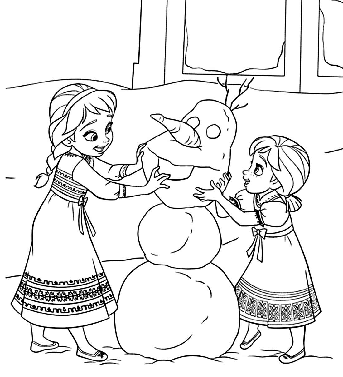 Imagem de Frozen para pintar