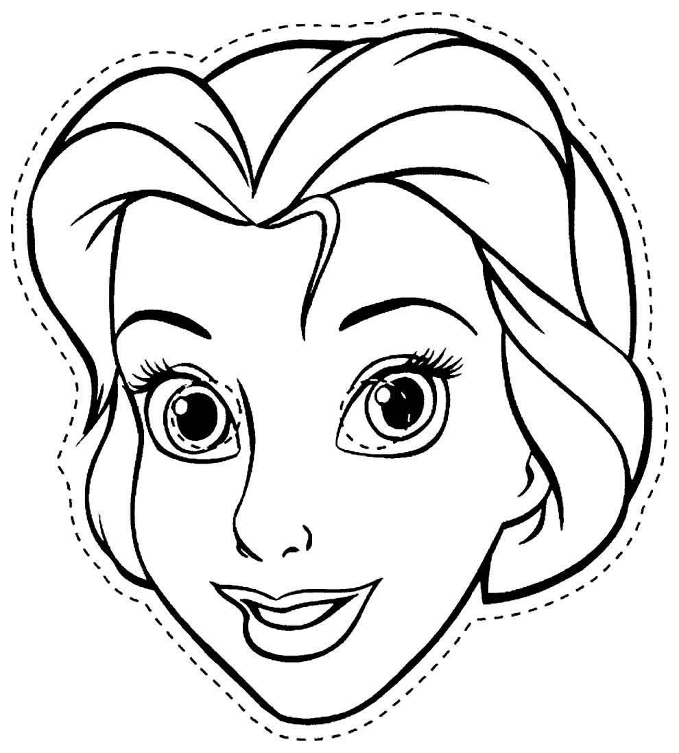 Imagem de Máscara Frozen para colorir