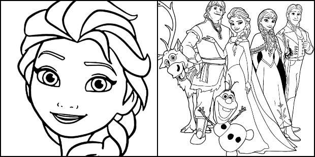 Desenhos da Frozen para imprimir e colorir