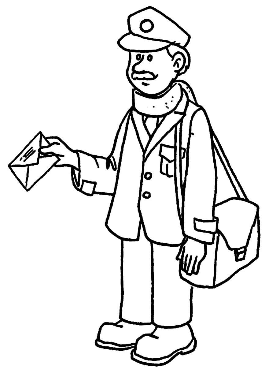 Desenho de carteiro