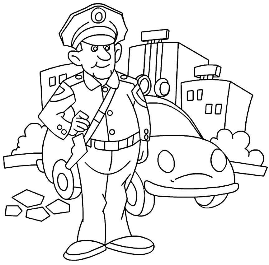 Desenho de policial