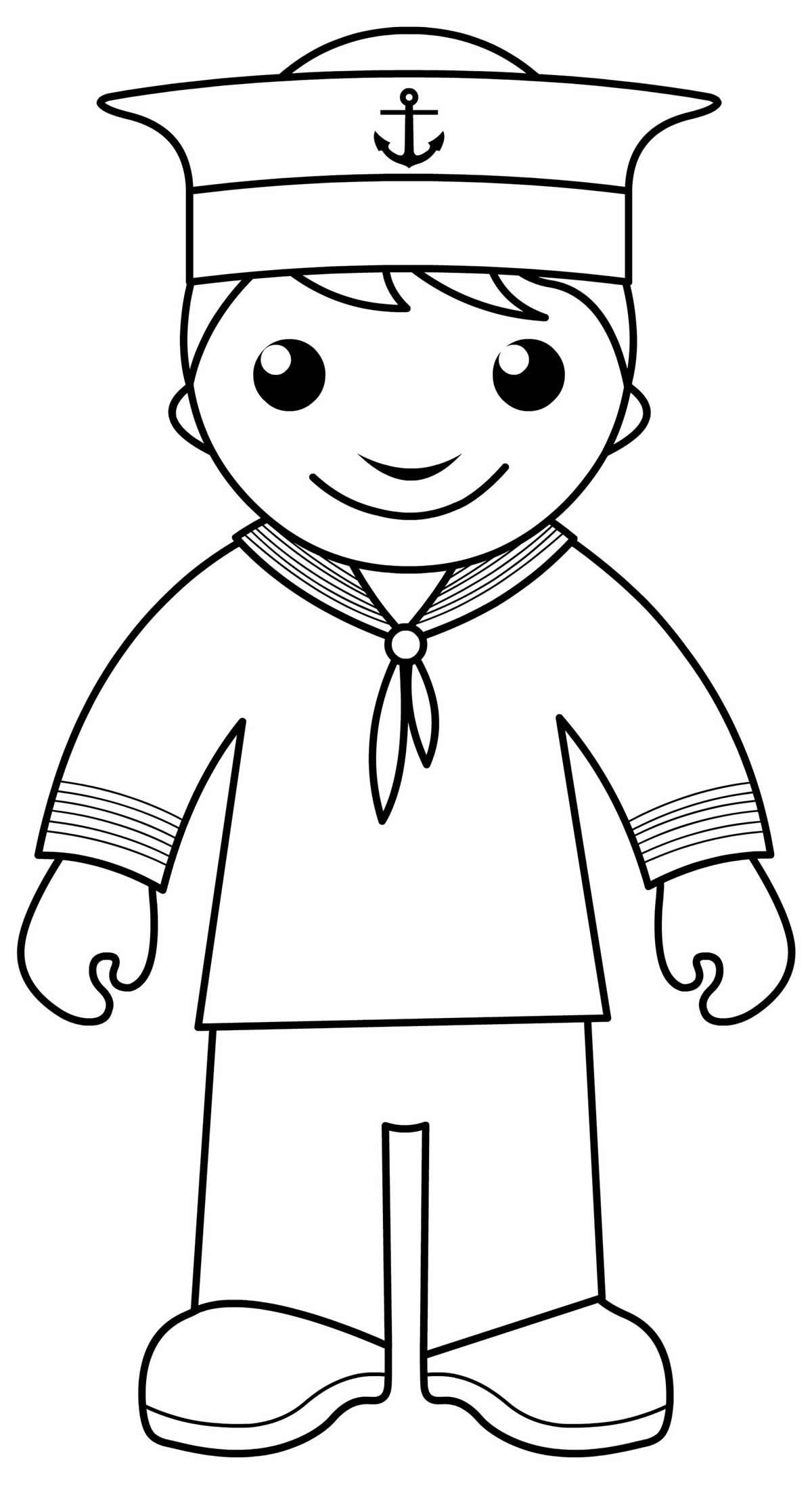 Desenho de marinheiro