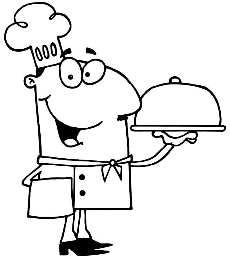 Desenho de cozinheiro