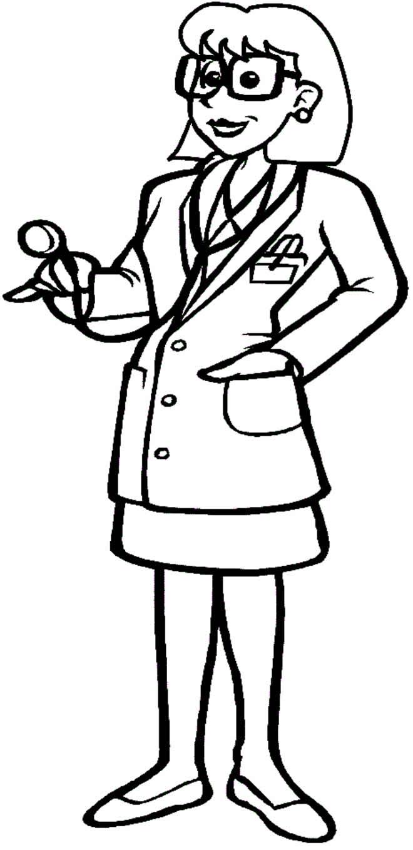 Desenho de médica