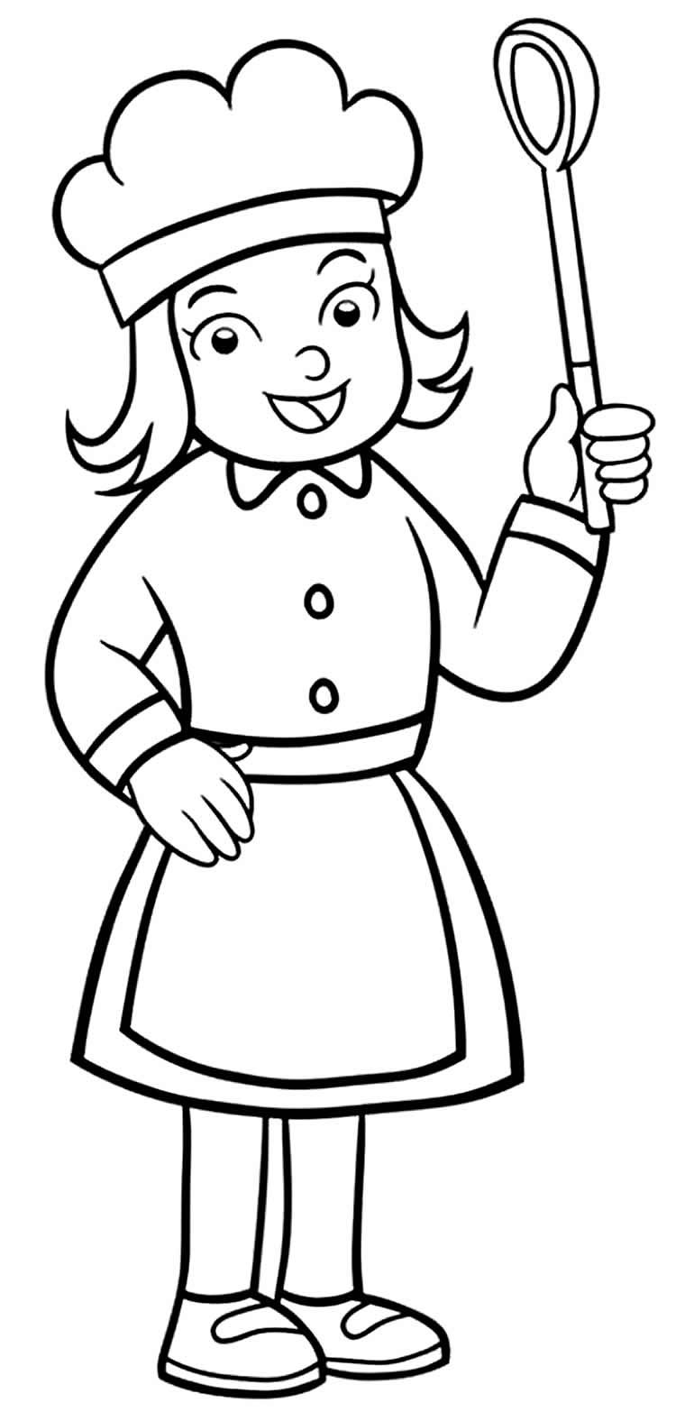 Desenho de cozinheira