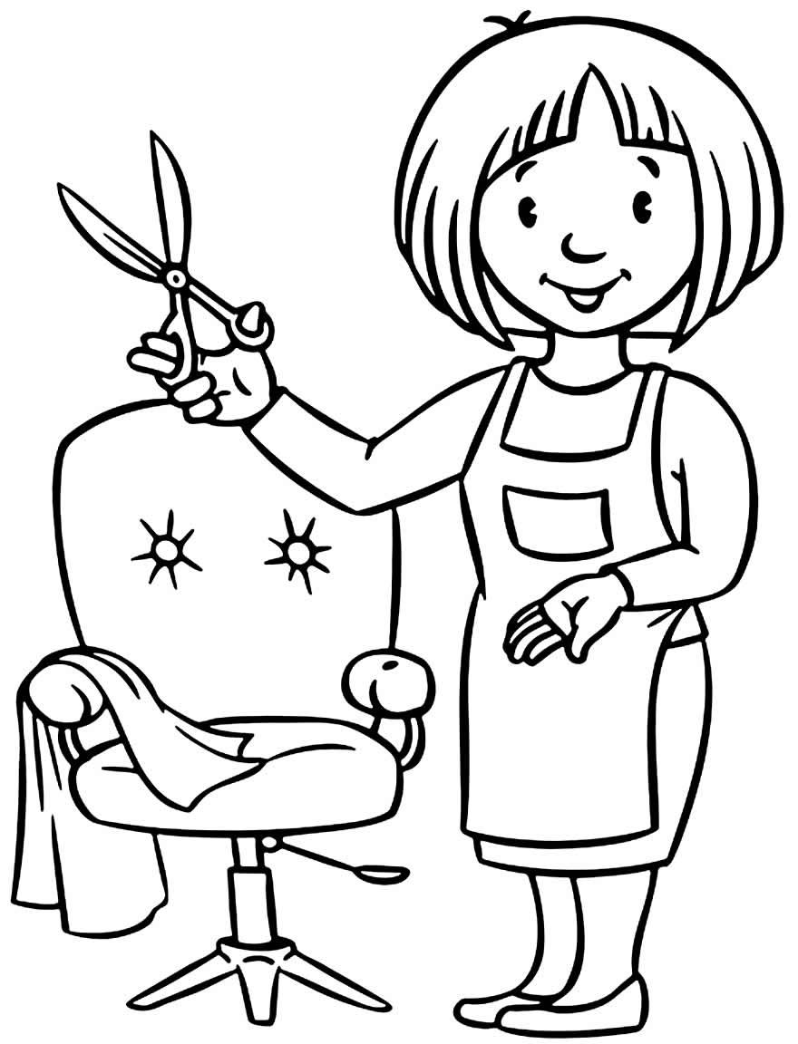 Desenho de cabelereira