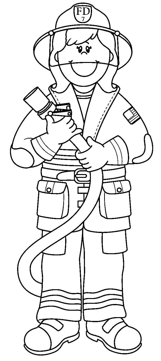 Imagem de bombeiro para pintar