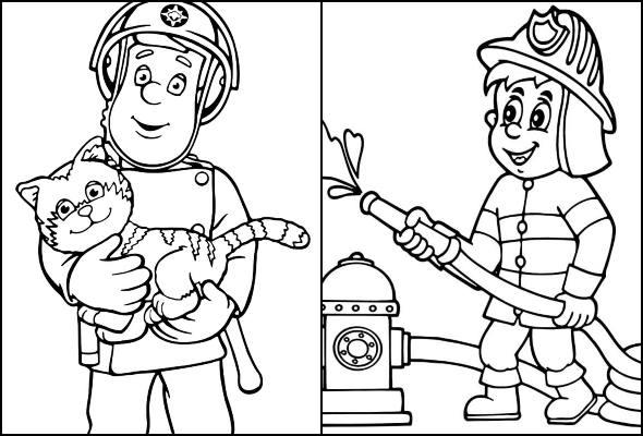 Desenhos de bombeiro para colorir