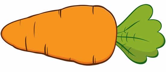 Desenho de Cenoura de Páscoa