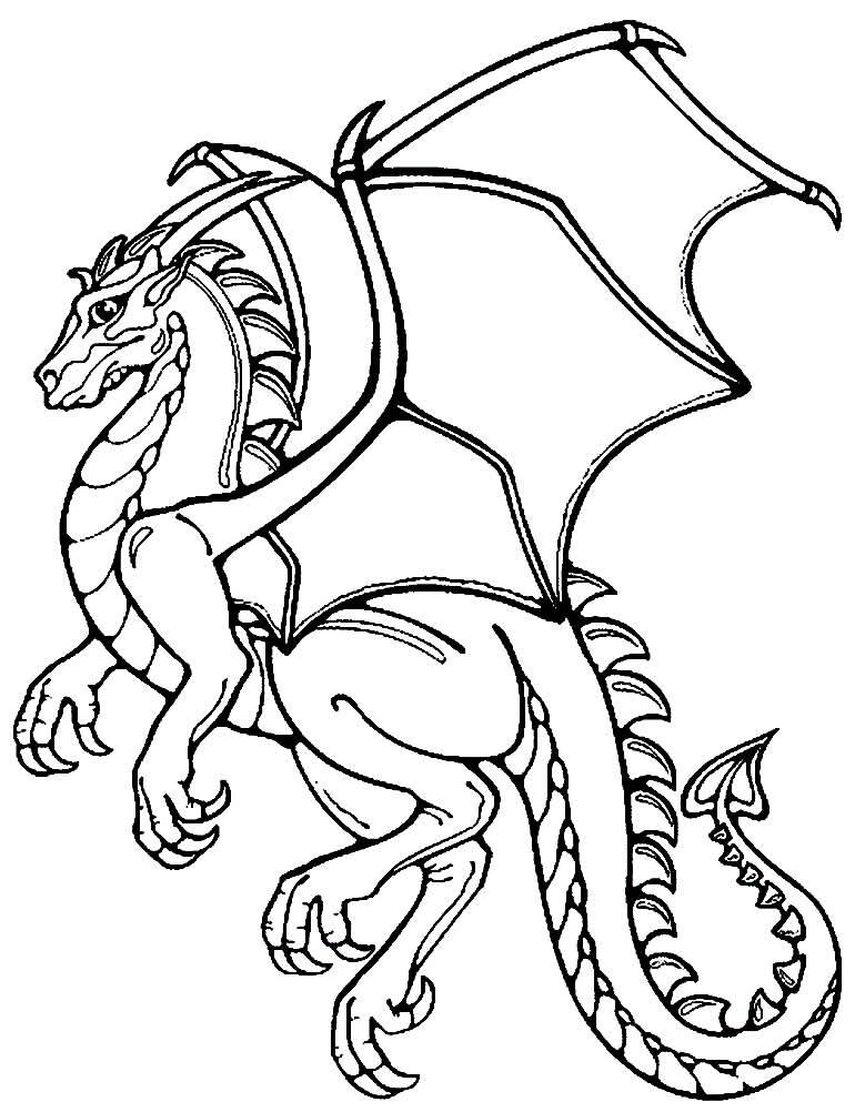 Desenho de dragão para colorir