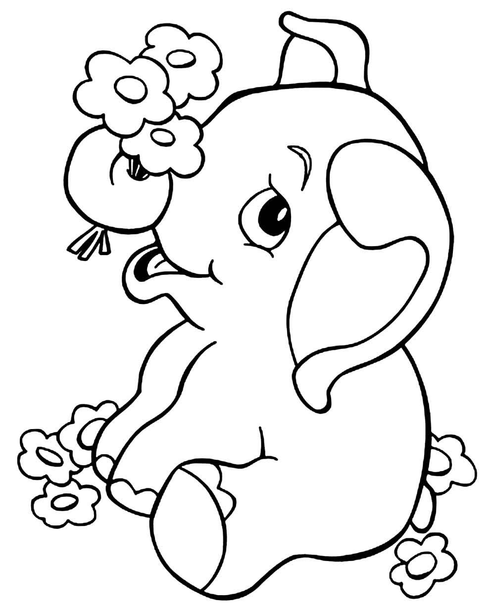 Imagem de elefante para colorir