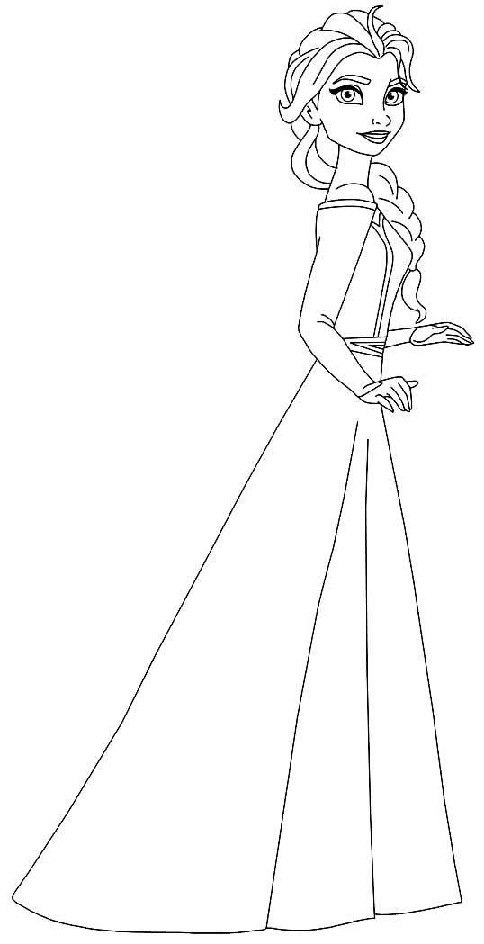 Imagem de Elsa para colorir