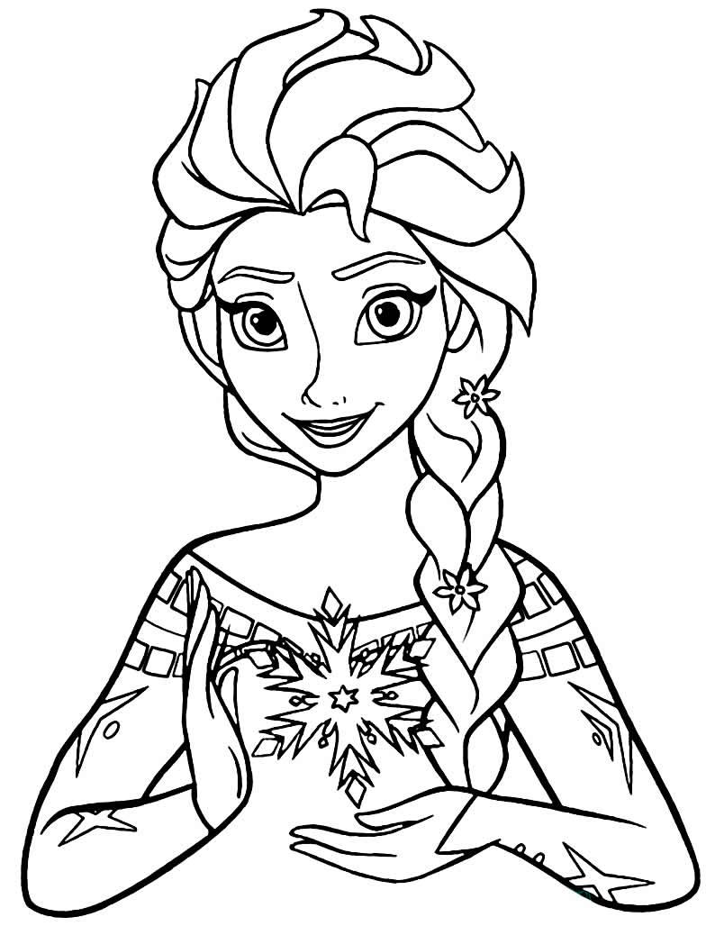 Imagem de Elsa para pintar