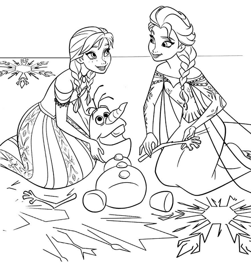 Desenho de Elsa e Anna