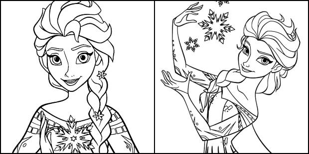 Desenhos da Elsa para colorir e imprimir
