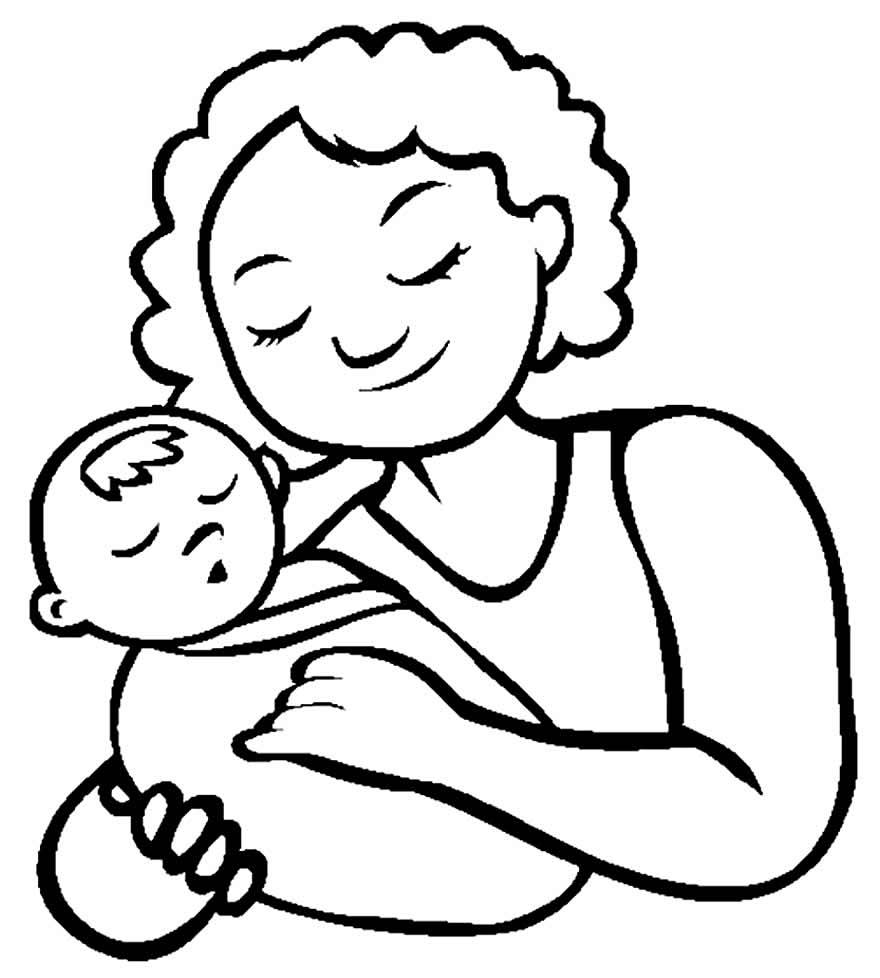 Imagem de mãe para colorir
