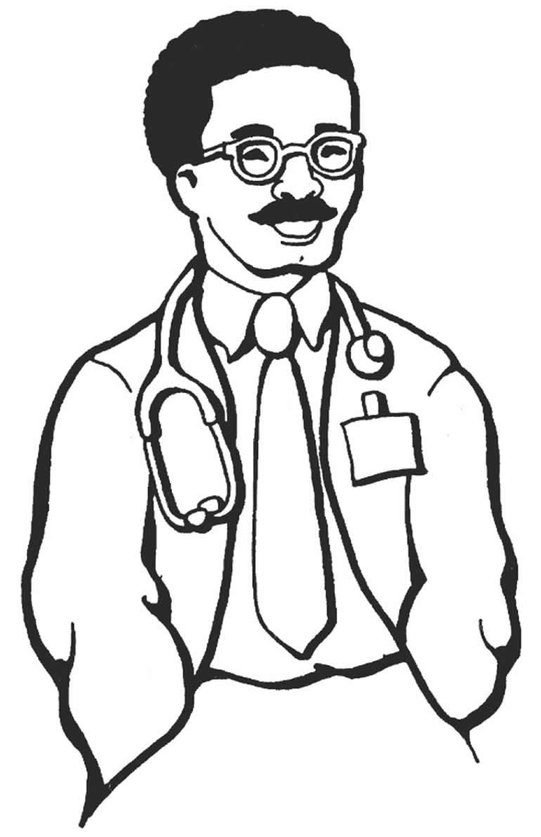 Imagem de médico para colorir