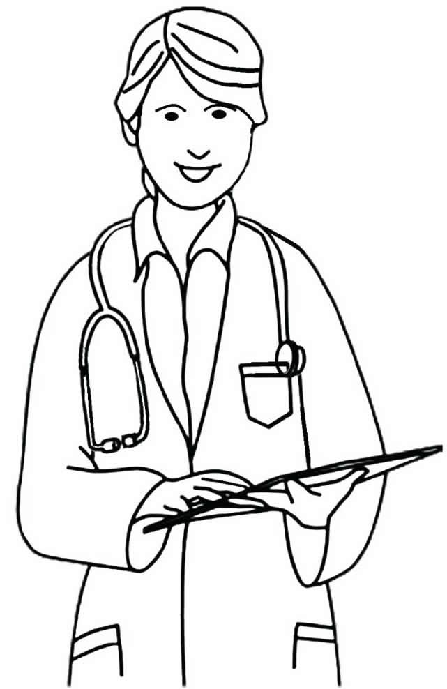 Imagem de médica para colorir