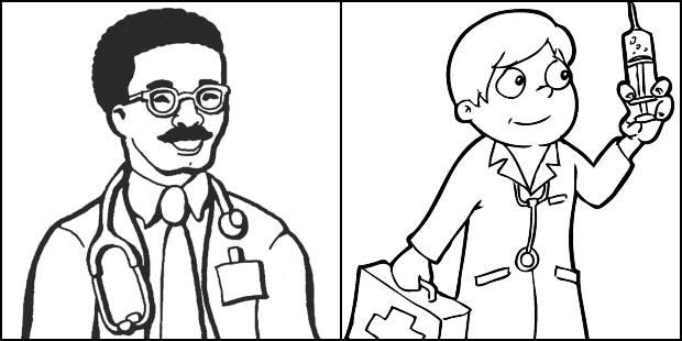 Desenhos de médicos para colorir