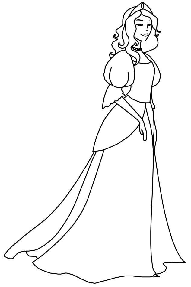 Desenho de princesas para pintar