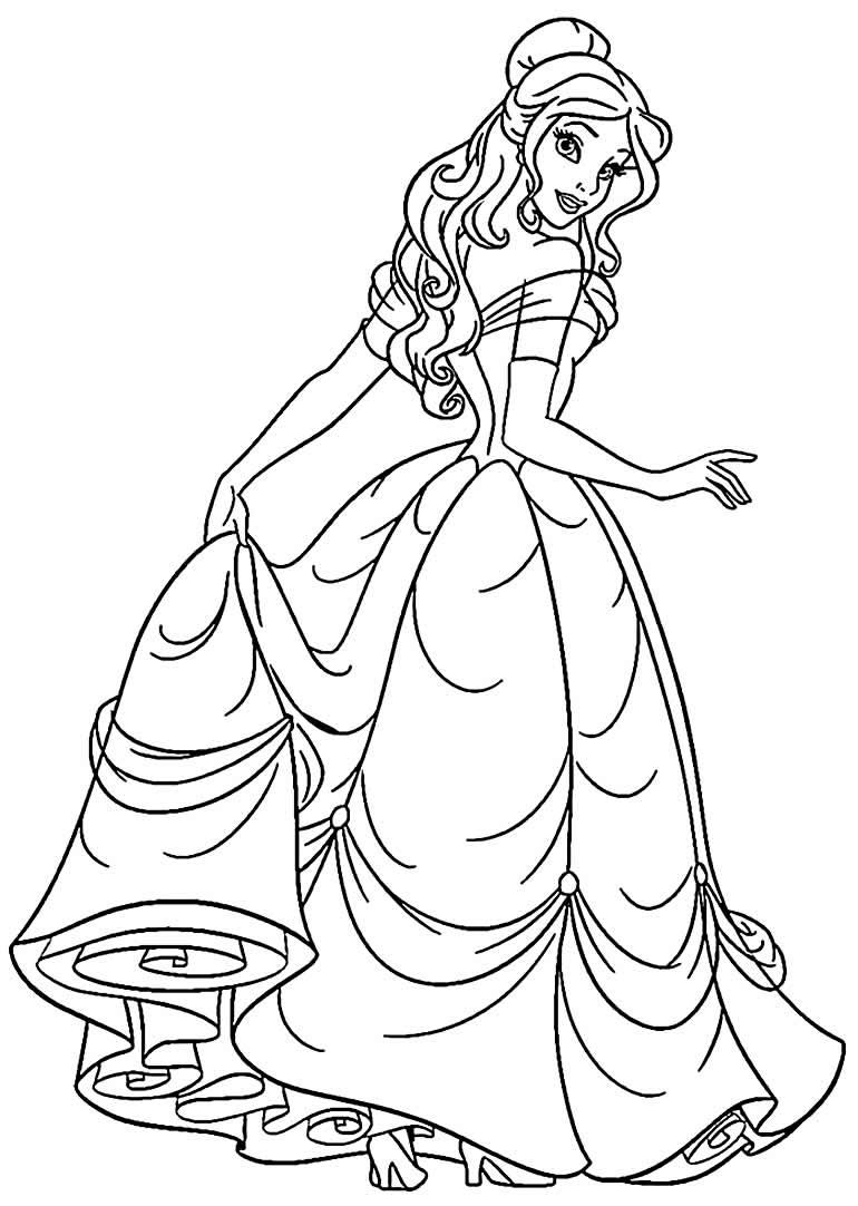 Desenhos de princesas para pintar