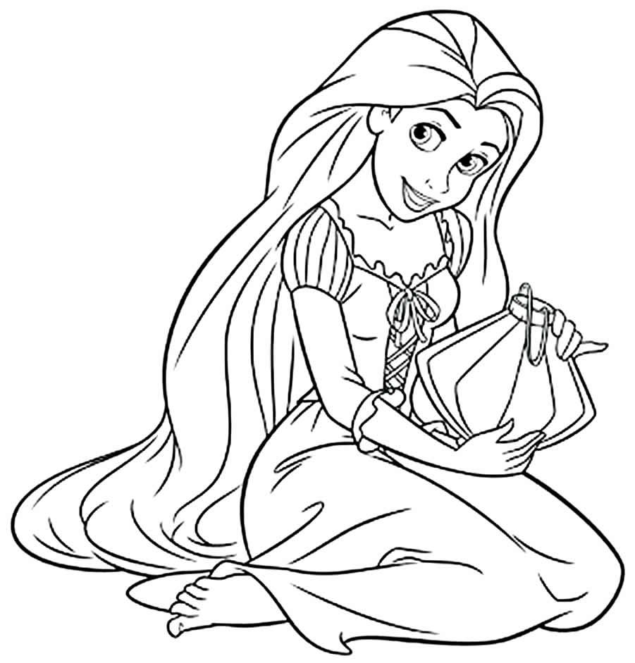Imagem de princesa para colorir