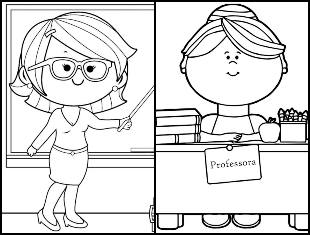 Desenhos de professora para colorir