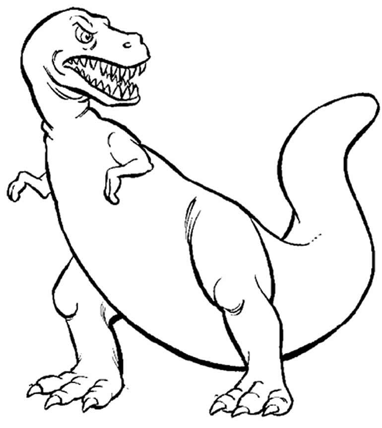 Desenho de T-Rex para imprimir