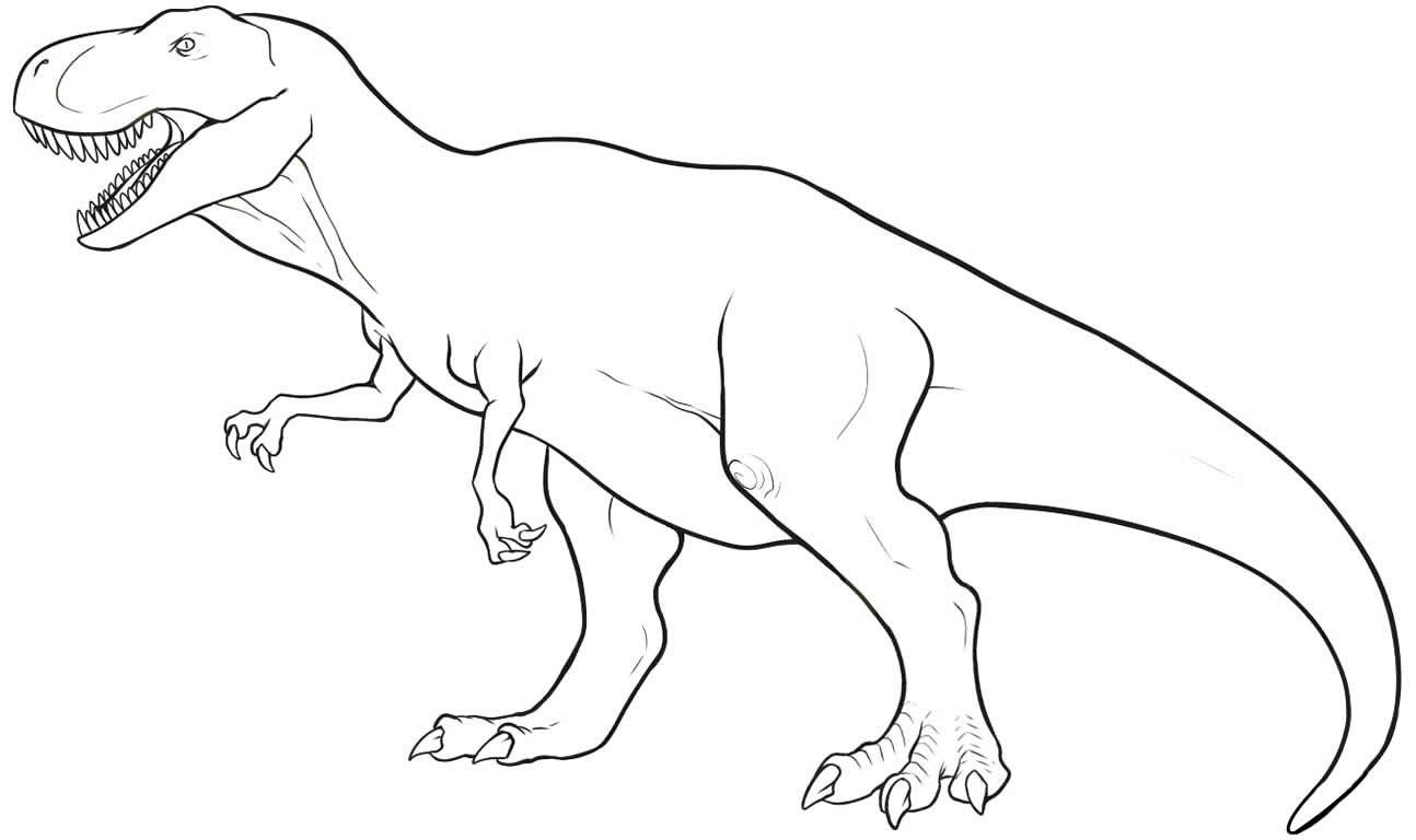 Desenho de T-Rex para pintar