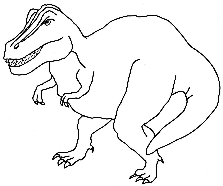 Desenho de dinossauro para pintar