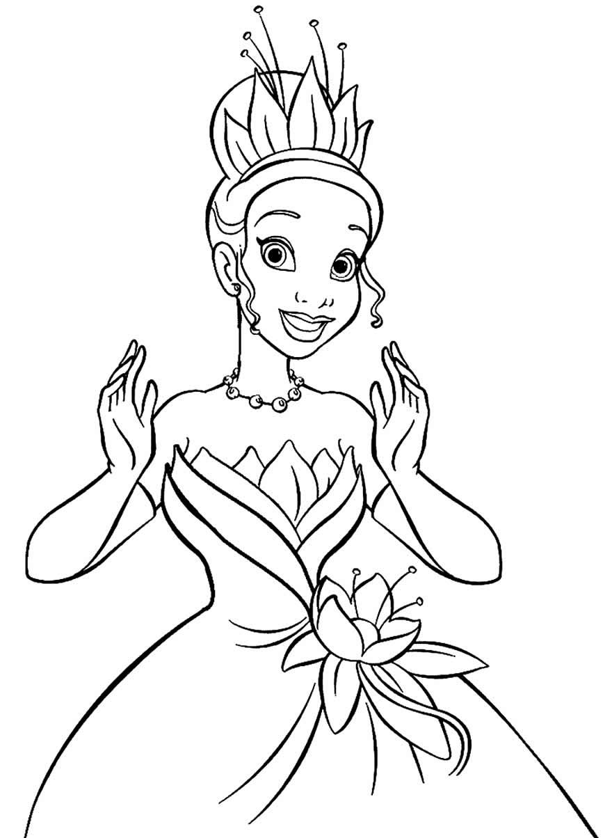 Desenho lindo da Princesa Tiana