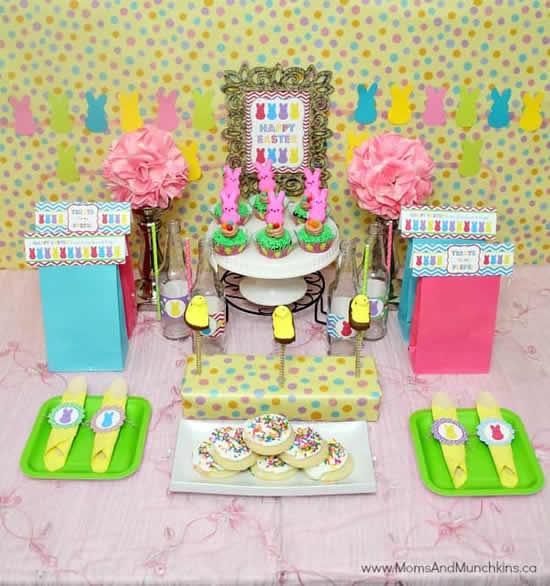Enfeites lindos para mesa de Páscoa