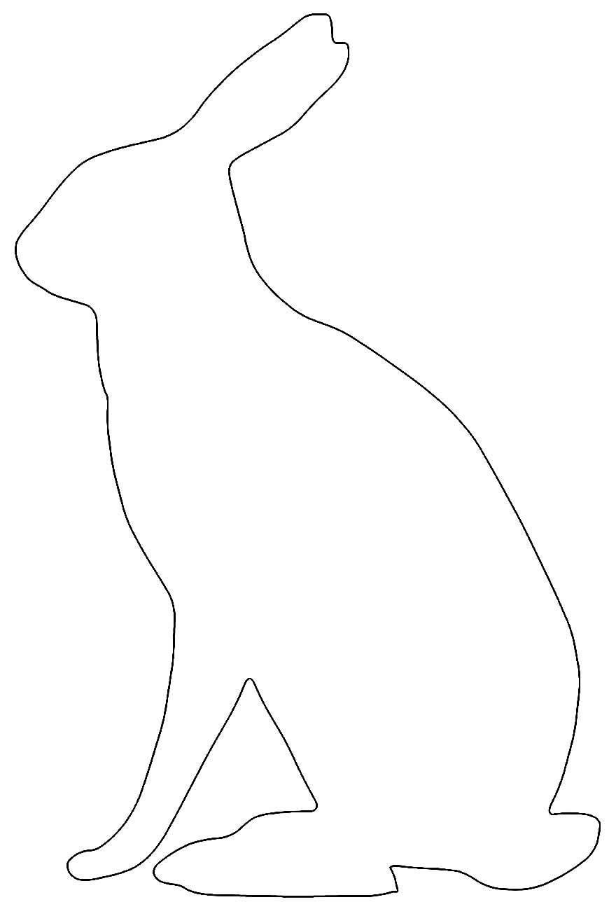 Molde para coelhinho de feltro