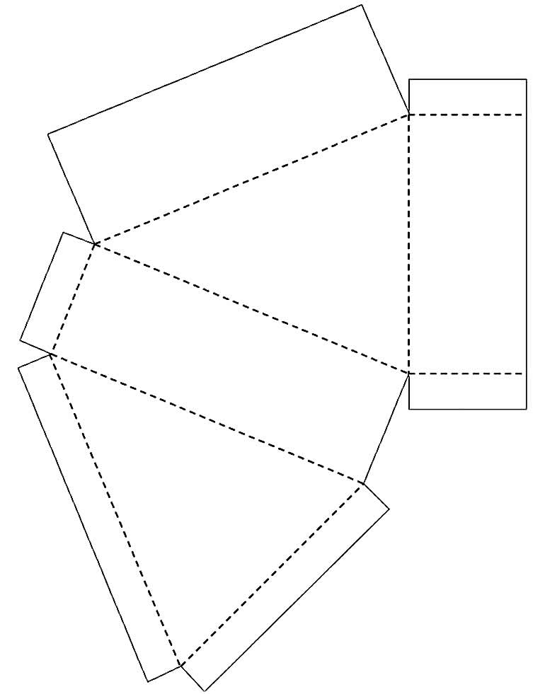 Molde simples de caixinha