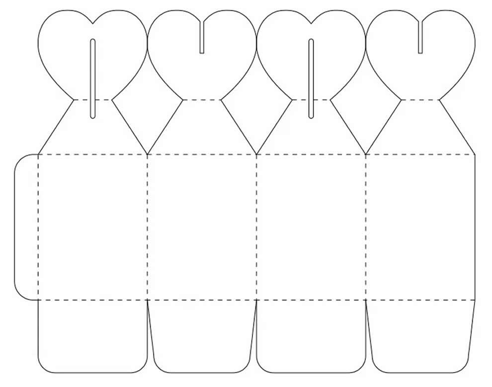 Molde para caixinha de papel
