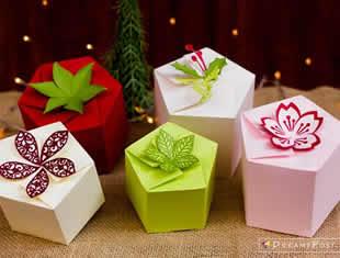 Moldes de caixinhas de papel para lembrancinhas