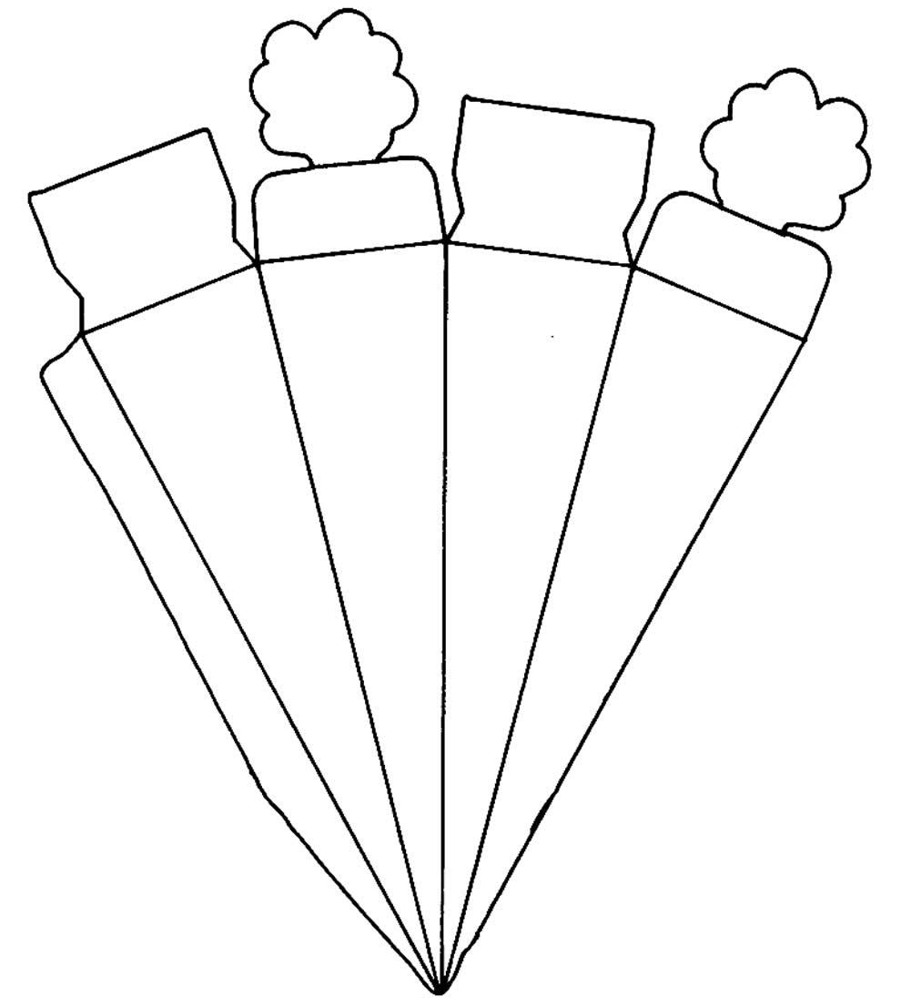 Molde de caixinha para Páscoa - Cenoura