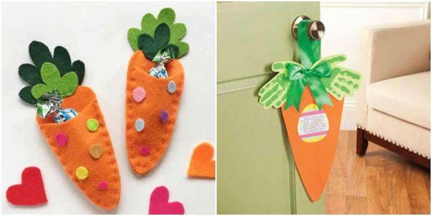 Moldes de cenoura para decoração de Páscoa