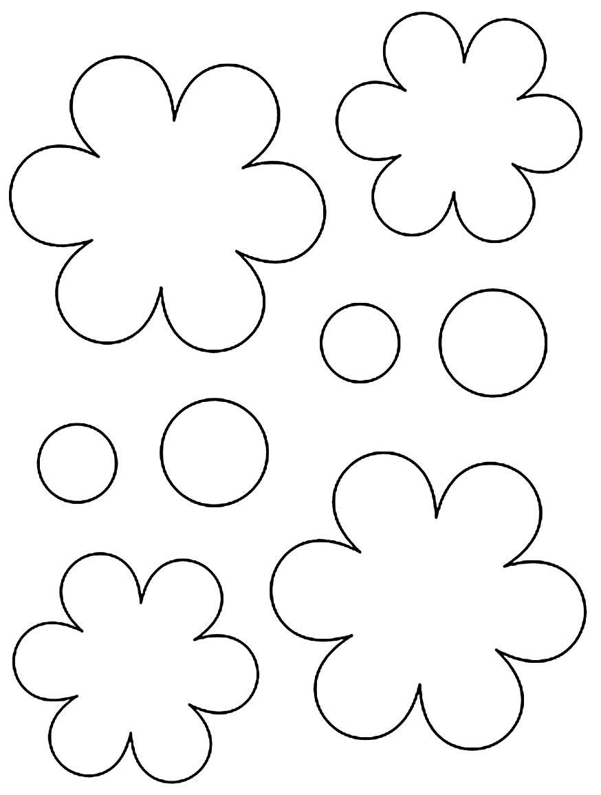 Moldes de flor para imprimir