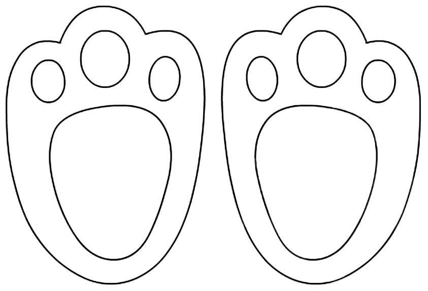 Moldes de pegadas de coelhinho