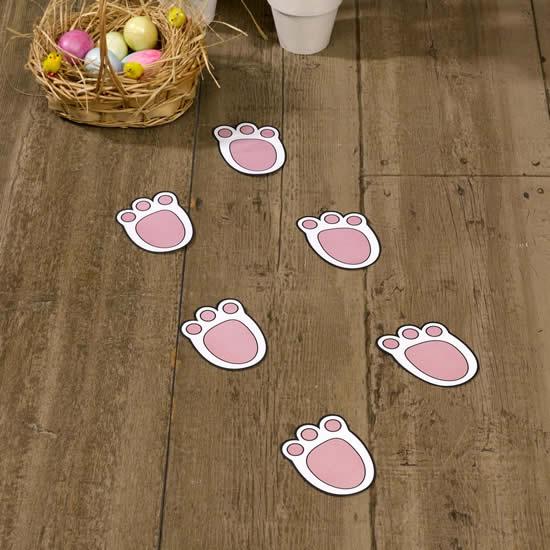 Moldes de pegadas de coelho para Páscoa