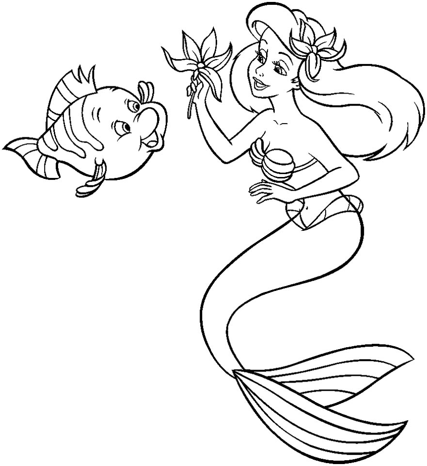 Desenho da Pequena Sereia
