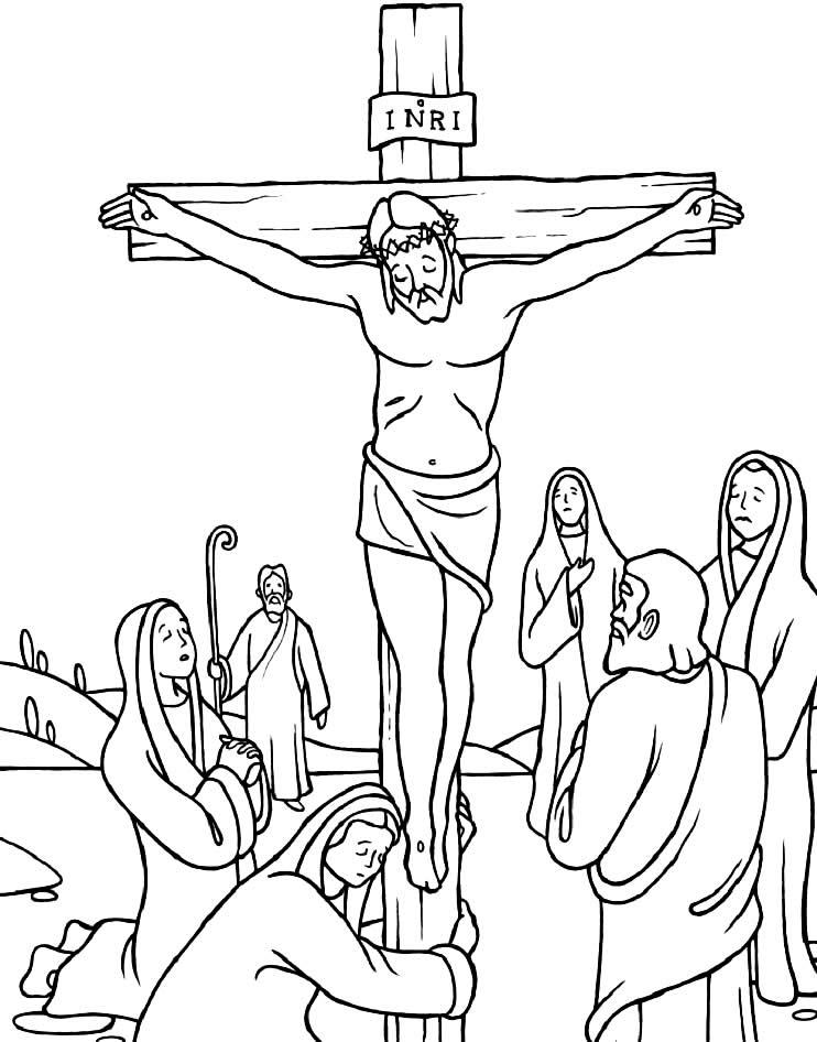 Desenho da Via Sacra para pintar