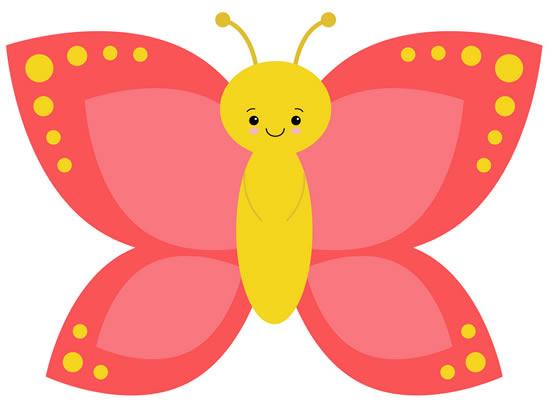 Desenho colorido de borboleta