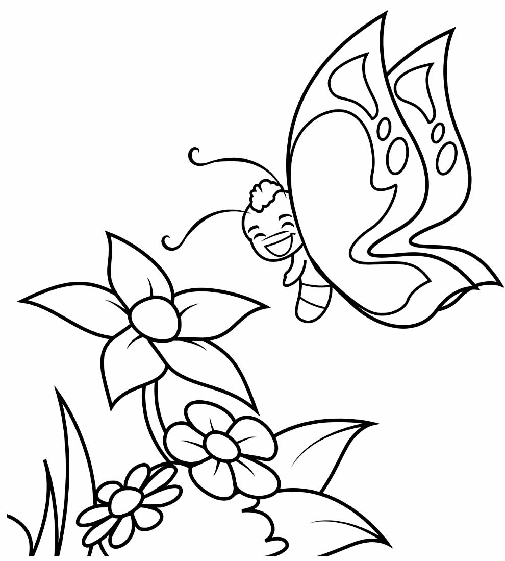Desenho de borboleta para pintar