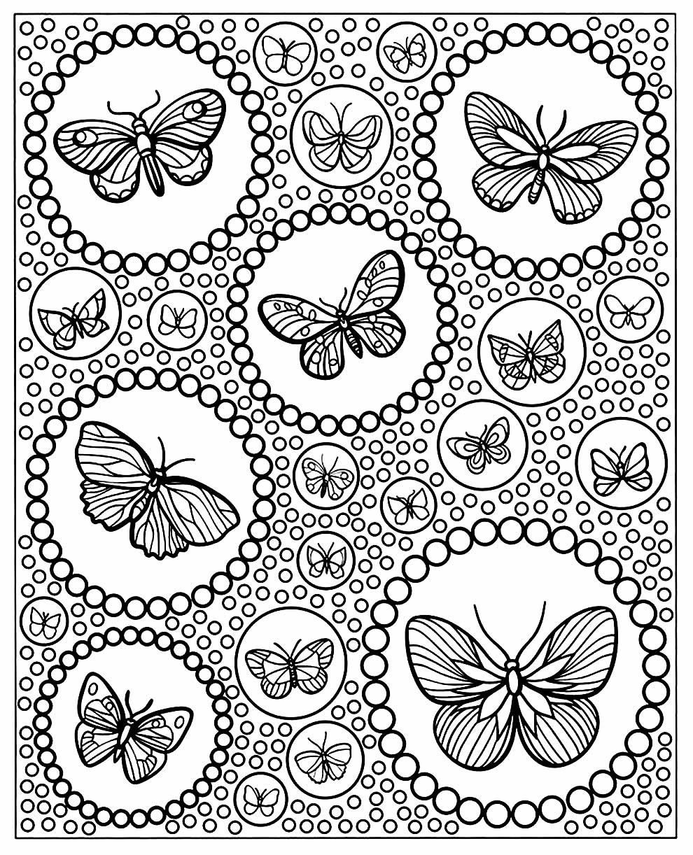 Molde de borboleta para pintar