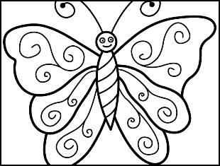 Desenhos de borboletas para colorir